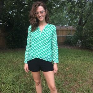 Green Plaid Blouse { Charming Charlie }